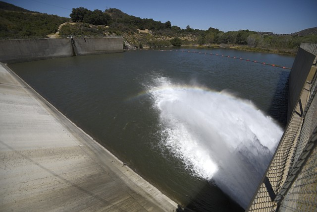 Water release at Cachuma Lake (July 12, 2016)