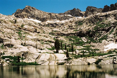 Emerald Lake beckons among a cluster of High Sierra cirques in Sequoia National Park.