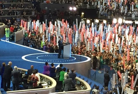 Democrats at their national convention roared their approval as former President Bill Clinton endorsed Hillary.