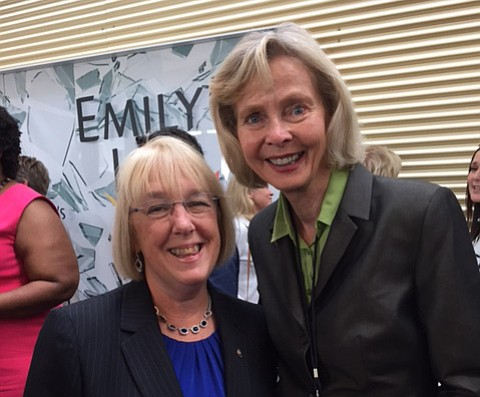 Rep. Lois Capps, pictured here with Washington state's Sen. Patty Murray, was among the delegates to the 2016 Democratic National Convention.