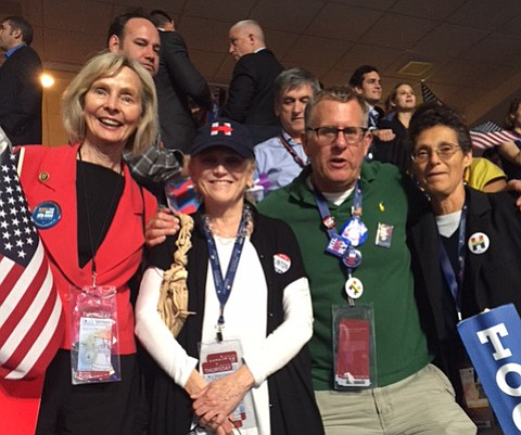 The delegation to the DNC from the 24th Congressional District included Rep. Lois Capps, Susan Rose, Michael Heyl, and Deborah Broner.