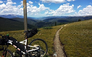 The Colorado Trail Race includes crossing the Continental Divide at Georgia Pass.