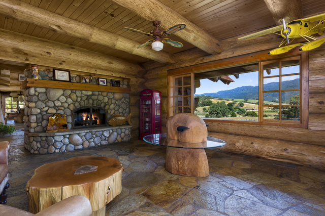Make Myself at Home: Log Cabin Mansion Estate on Highway 101