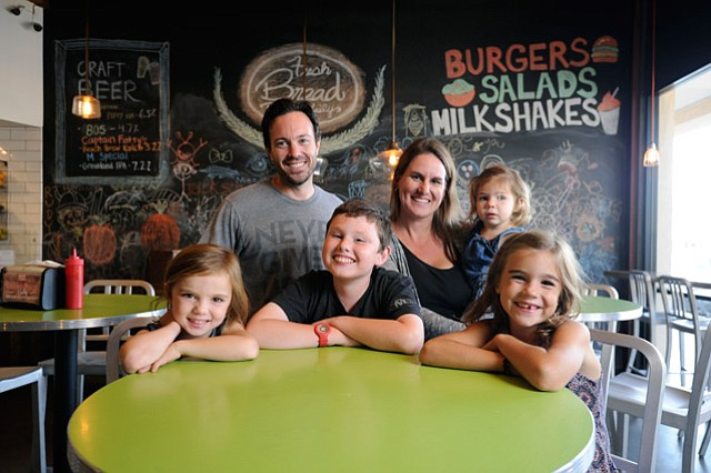 Jay and Deena Ferro with their kids, from left, Ava, Kyle, Paige, and Ember