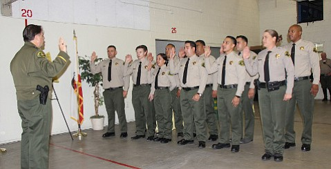 Nine new custody deputies joined the Santa Barbara Sheriff's Office last month.