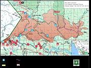 Rey Fire closure map