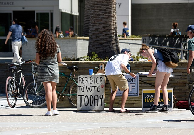 With Monday, October 24 the last day to register to vote, Democrats press to sign up new voters at UCSB and Isla Vista.