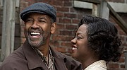 Denzel Washington and Viola Davis in <i>Fences</i>.
