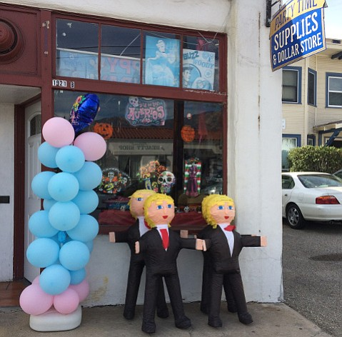 Santa Barbara stores are selling out of piñatas to customers eager to take a whack at the Donald.