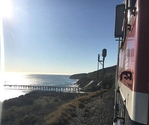 A vintage railcar toot through Gaviota gave riders a chance to view the vistas the Gaviota Plan hopes to preserve.