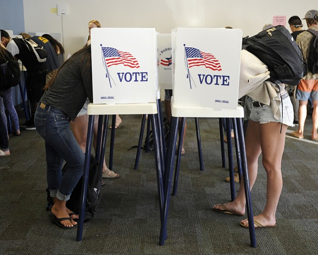 Isla Vista students vote. (Nov. 8, 2016)