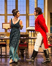 Abby Craden (Lady Croom) and Rafael Goldstein (Septimus Hodge).