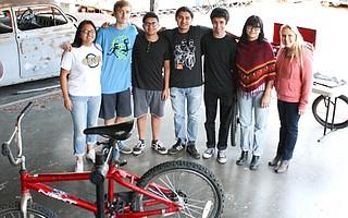 The bicycle club, SBici, at Santa Barbara High School