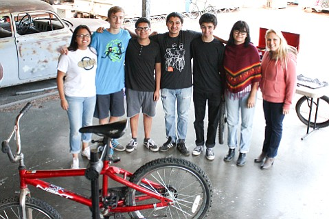 The bicycle club, SBici, at Santa Barbara High School