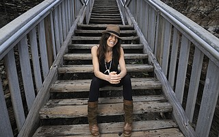 Amy Digregorio at the Mesa Lane Steps