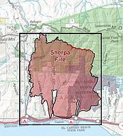 Sherpa Fire burn area