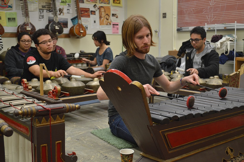 The UCSB Gamelan Ensemble rehearses for their March 1 performance in a communal and peaceful atmosphere.
