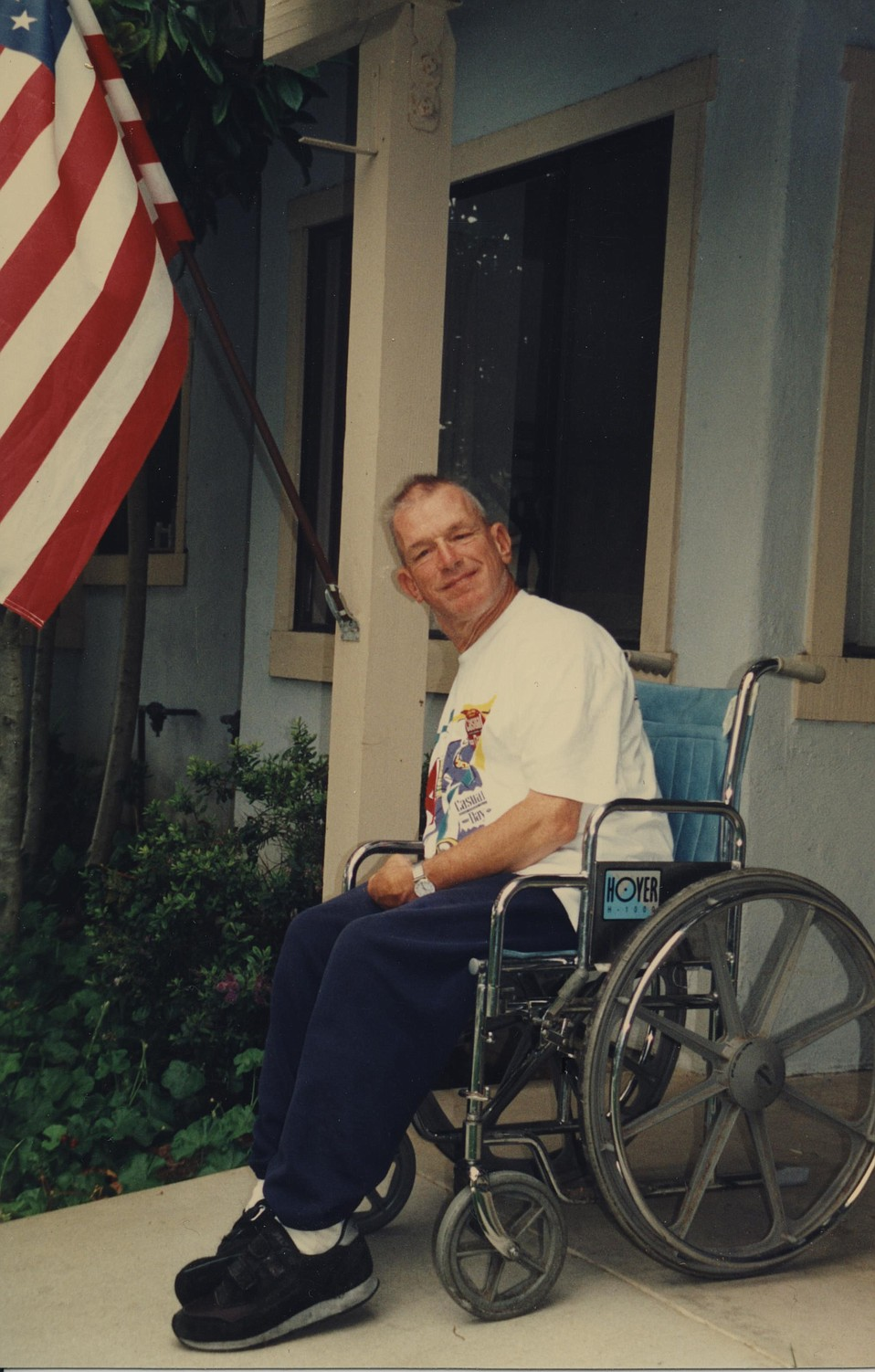 When he wasn't out working for United Cerebral Palsy or raising a ruckus at UCSB sports events, Phil Womble welcomed visitors to his apartment, where the Star-Spangled Banner was always displayed.