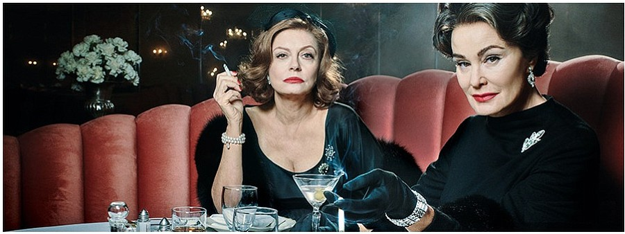 Susan Sarandon plays Bette Davis opposite Jessica Lange as Joan Crawford in FX's Feud.