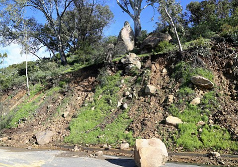 Erosion on the slope below the bust of Francesco Franceschi from February's rains raised concern that it could tip over, but the city says it won't.