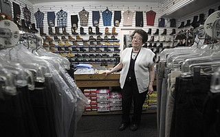 Foot Traffic: Since the November election, María Pérez, owner of the largest clothing store on Milpas Street, has few customers for men's boots and work clothes, the bread and butter of her business.