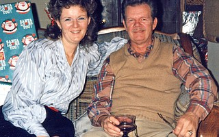 Ilene McNamara Miele and her father, Jack McNamara, in 1986