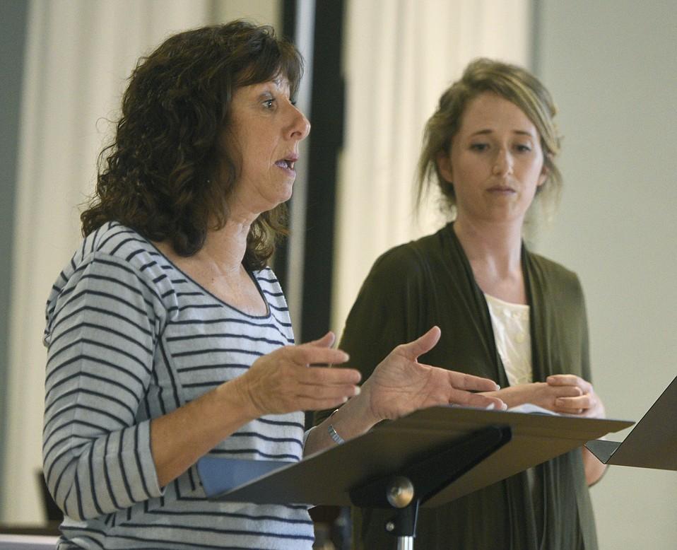 Immigrant Hope Director Diane Martinez (left) and training facilitator Katie Kinsella