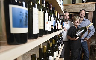 L to R Bob Wesley with Kathy and Paul Shields will soon open Savoy Wines at 18 West Anapamu Street