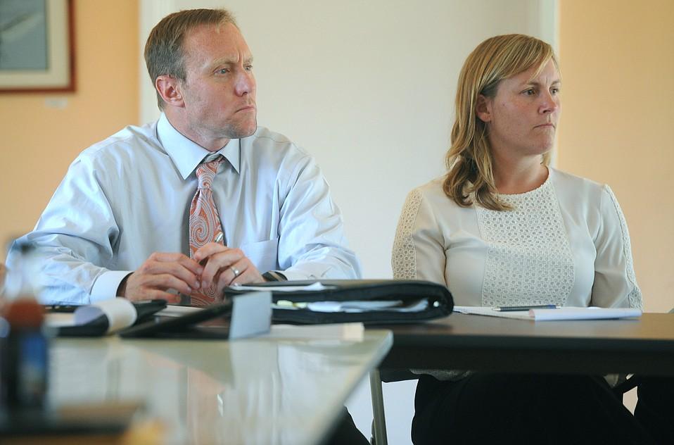 City water directors Josh Haggmark and Kelley Dyer