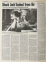 Santa Barbara Independent article from June 22, 1989 on Sean Hannity being kicked off the air at KCSB