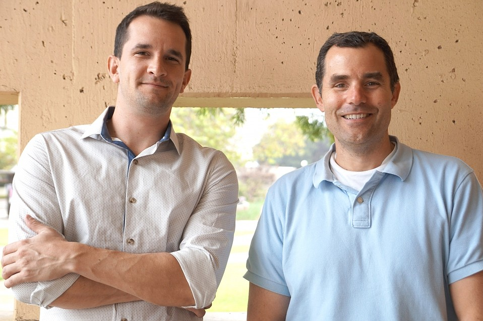 UCSB's Blair Paul (left) and Dave Valentine are among the authors of a paper documenting tiny microbes that can self-mutate.