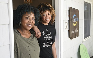 Ashley Kelly (right) and Christin Brown (left) have been together for 15 years. Eight years ago, they opened LunaBella Makeup & Hair to specialize in curly and wavy hair after they spent their youth getting theirs chemically straightened.