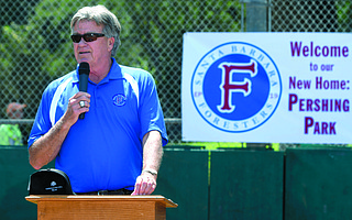 Bill Pintard will send the Foresters out on the diamond at Pershing Park next month.
