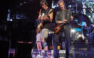 Guitarist Gary Pihl (right) and Boston founder Tom Scholz bring the band's Hyper Space Tour to the S.B. Bowl.
