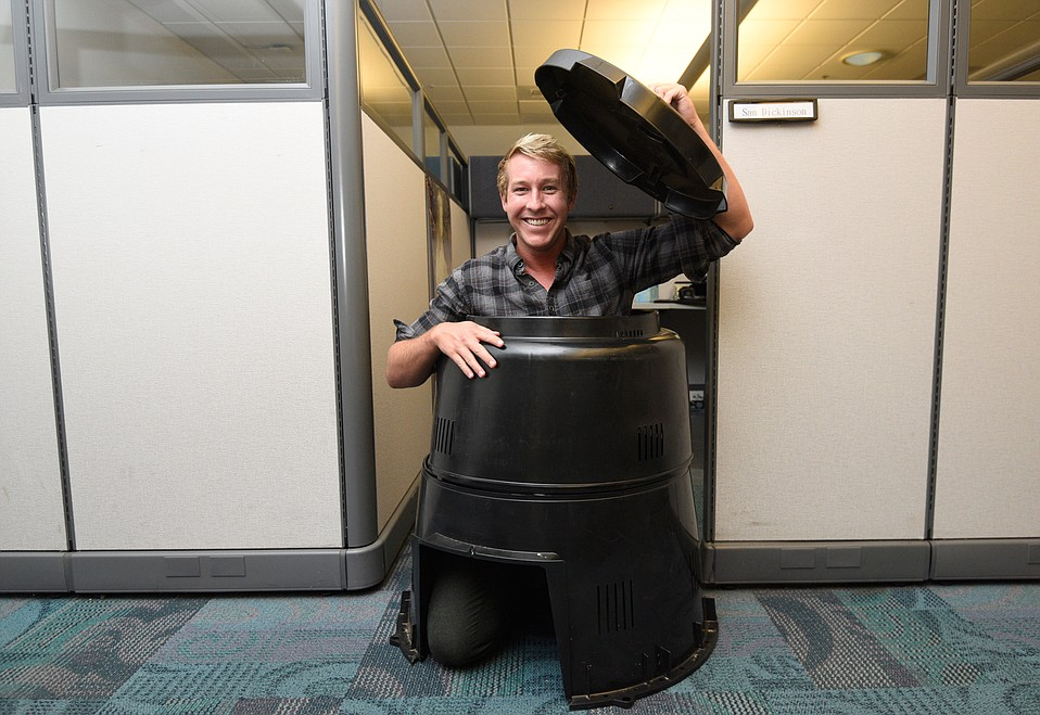 Sam Dickinson is all about composting.