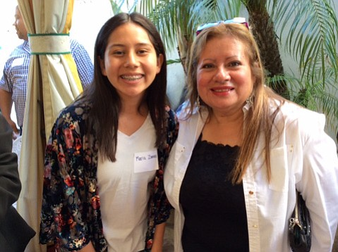 Santa Barbara raised the admin fee charged branch libraries to 13.5 percent, but layoffs were made. Suzanne Requejo (right) was discharged from Carpinteria library, where she ran a program — awarded an $8,000 grant on Tuesday — and mentored kids like Maria Zamora, who started in the homework program and is now headed for college.