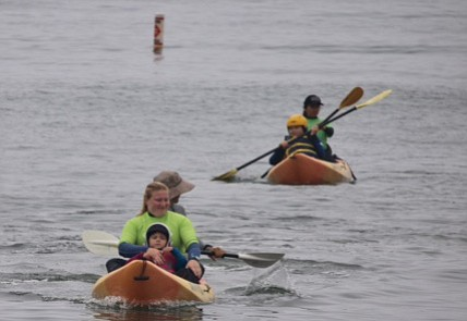 Water sports fun is all part of the Best Day Foundation game plan, which organized kayaking, surfing, and more at Leadbetter Beach.