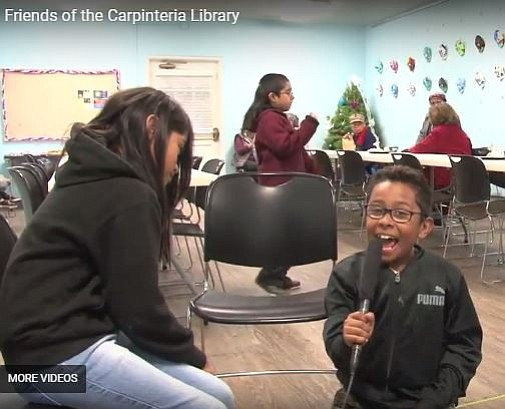 In a video made by Friends of Carpinteria Library's Larry Nimmer, one animated homework program participant summed it up: 'If we didn't have the lib'ary, where would kids do their homework? It'd just be chaos.'