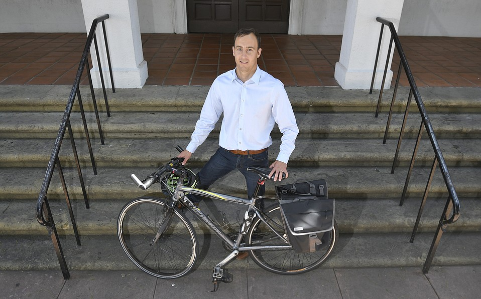 Jack Ucciferri, now running for City Council, authored an economic feasibility study for a potential bike-sharing program out at UCSB.