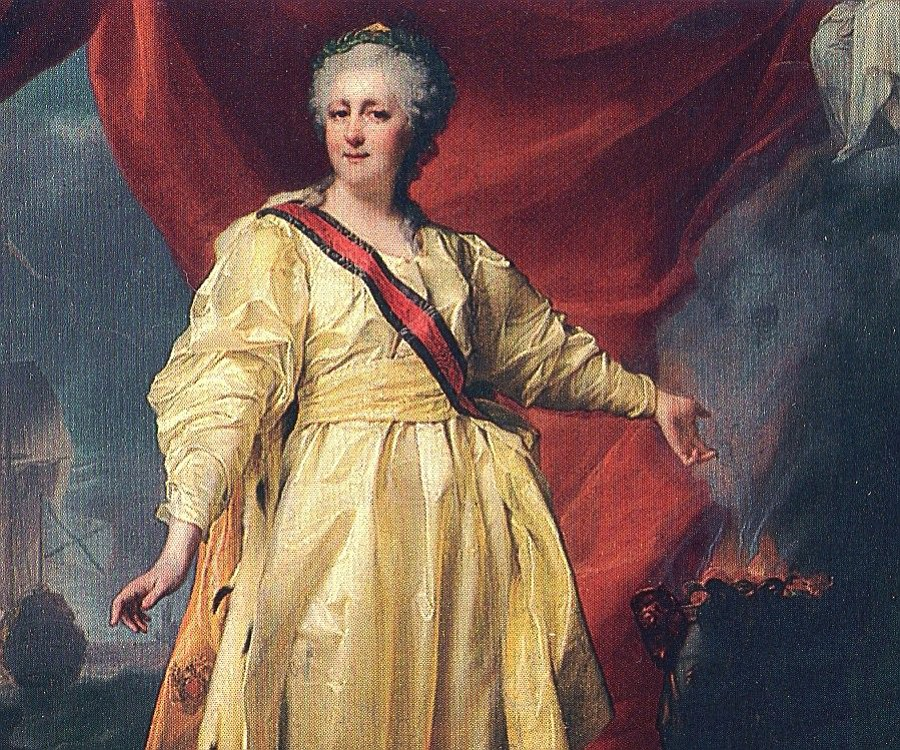 The rule of Catherine the Great, Empress of Russia from 1762-1796, included Russkaya Amerika, outposts in California, Alaska, and Hawai'i.