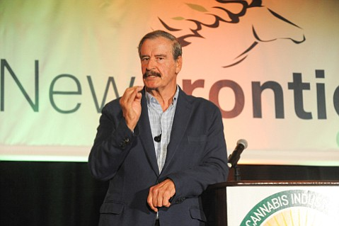 Vicente Fox told the National Cannabis Industry Association that Mexico tragically sits smack between users and suppliers.
