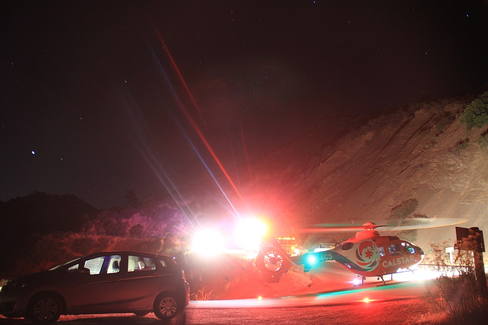 And air ambulance responds to the fatal Gibraltar Road accident