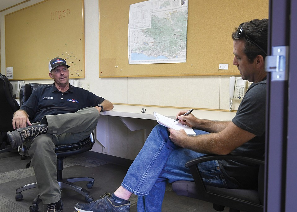 Keith Hamm interviews Whittier Fire Incident Commander Mark Von Tillow