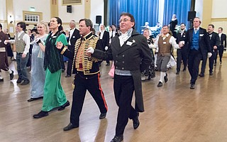 The Santa Barbara Country Dance Society's 2016 Winter Dreams English Country Ball in the Carrillo Ballroom