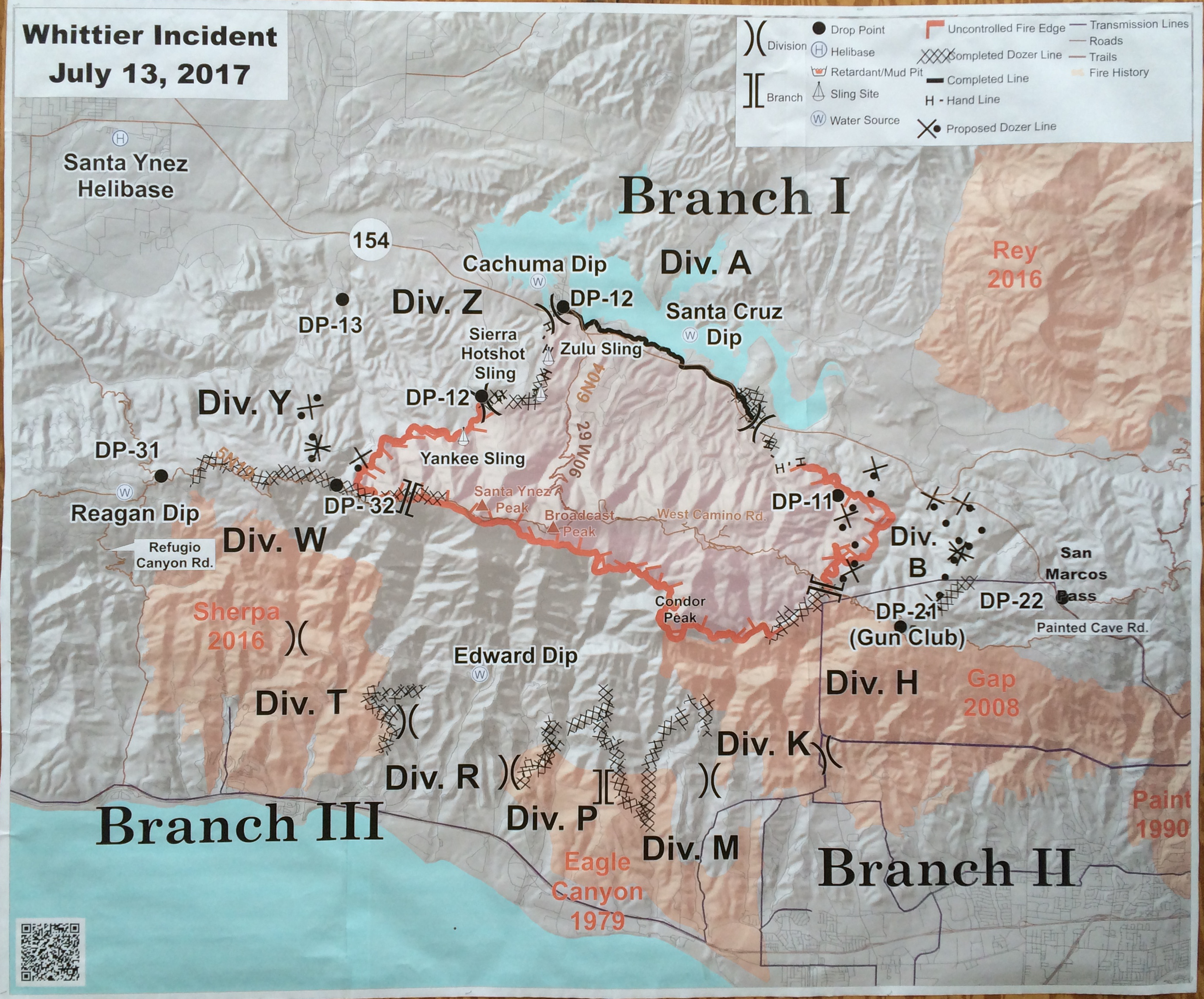 Florida Fire Map 2017.Blue Skies Over Whittier Fire