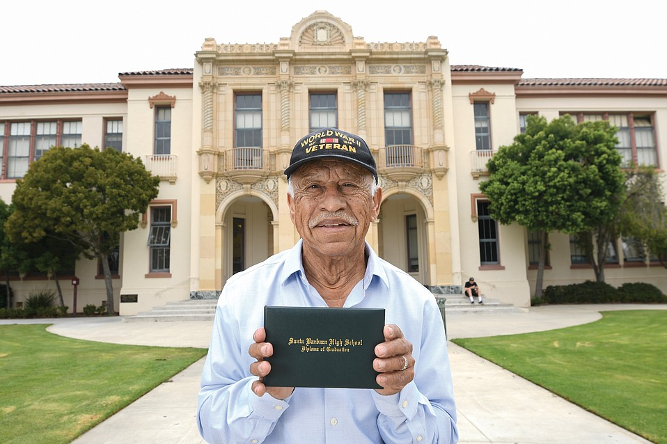 Gilbert Ramirez, pictured in front of Santa Barbara High School