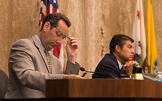Santa Barbara County supervisors Steve Lavagnino (left) and Das Williams head the county's effort to draft a cannabis ordinance.