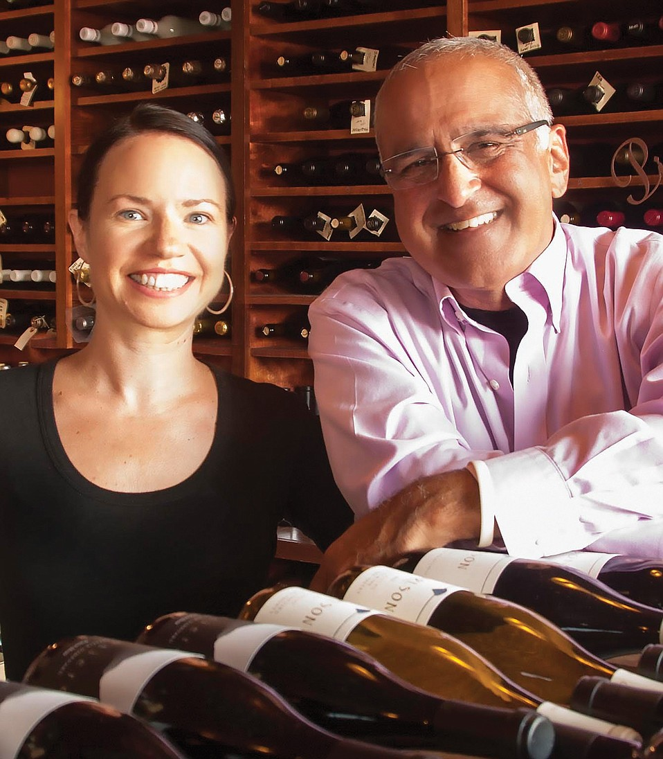 Ila winemaker Mary Bradley (left) with Ash Mehta