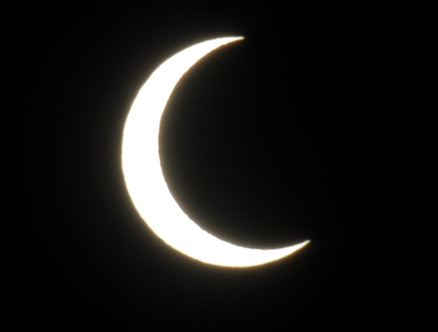 Partial solar eclipse as seen in Santa Barbara on May 20, 2012