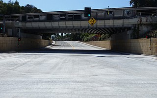 The Castillo Street underpass, repaved and hopefully drained, opened again on August 18.